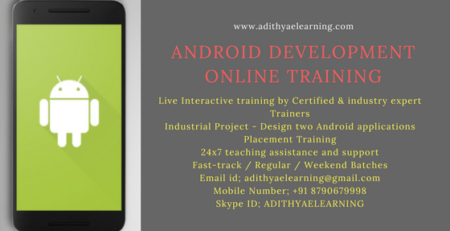 Android developer Online Training from India