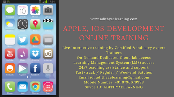 APPLE, IOS Certification Online Training Course Content